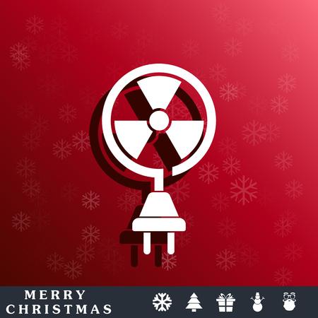 contaminate: nuclear energy icon Illustration