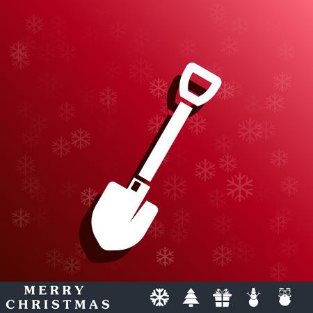 blizzards: shovel icon Illustration