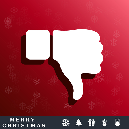 thumb down: thumb down icon Illustration