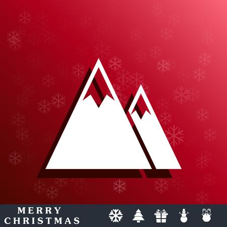 winter range: mountains icon Illustration