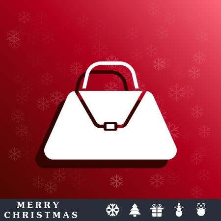 valise: hand bag icon Illustration