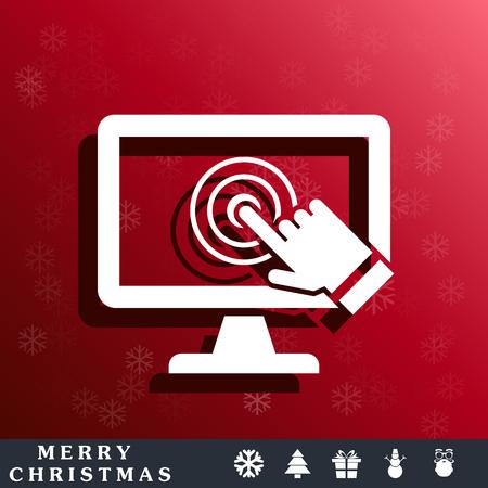 pc icon: pc screen touch icon