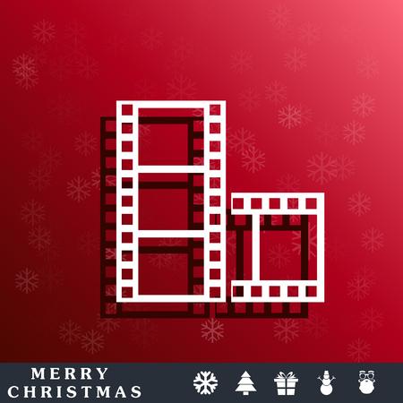 movie film: movie film icon Illustration