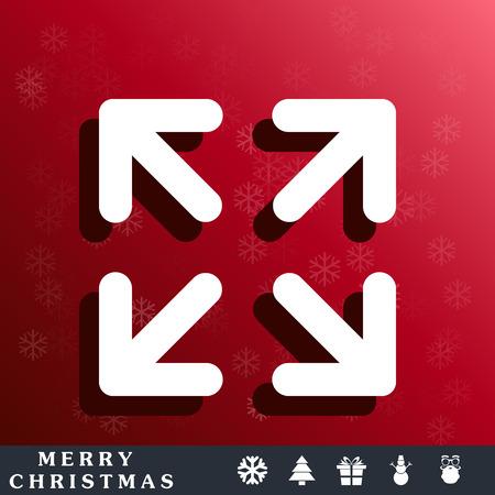 orientation marker: arrows change size icon Illustration