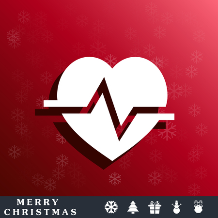 pulsating: heart cardiology icon