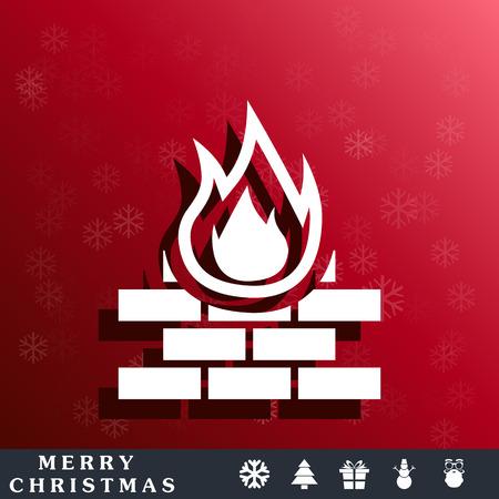 firewall protection: firewall protection icon Illustration