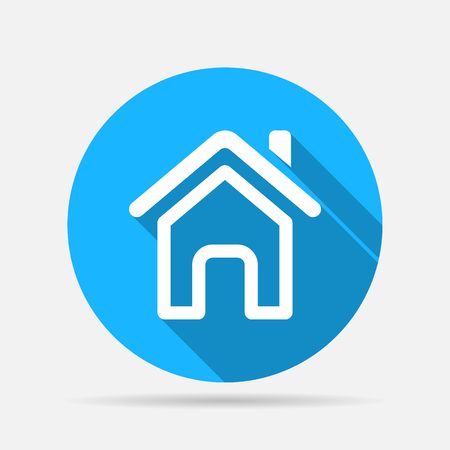 home page: Outline home page icon