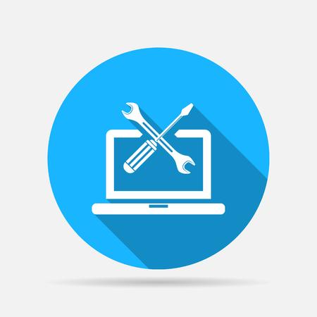 computing services icon Vektoros illusztráció