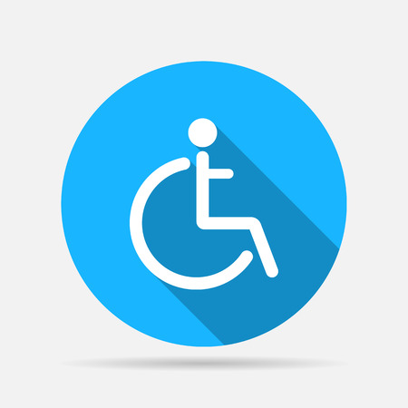 one man only: Disabled sign icon