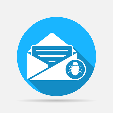 spam virus in mail icon