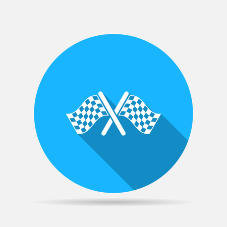 accomplish: start finish cross flags icon