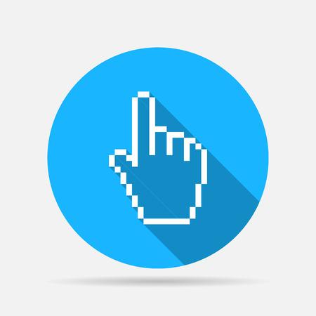 hand cursor: pixel hand cursor