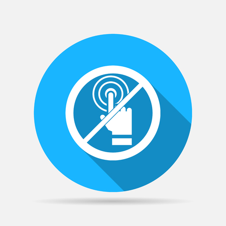 no touch icon Illustration