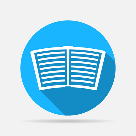 electronic publishing: open book icon Illustration