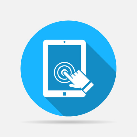 touch: tablet touch screen icon Illustration