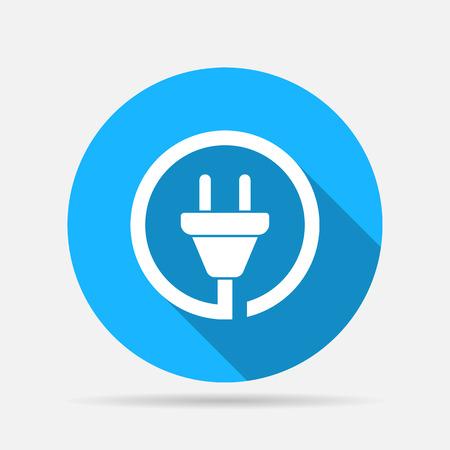 wire plug icon Vettoriali