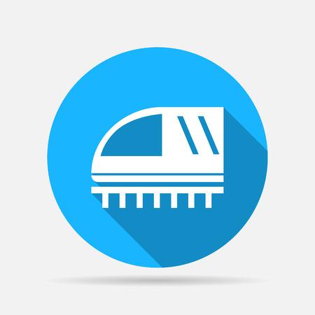 hovercraft: train sign icon