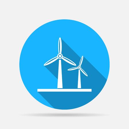 energies: windmills energy icon Illustration