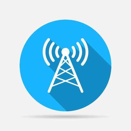 wireless connection: Antenna icon Illustration