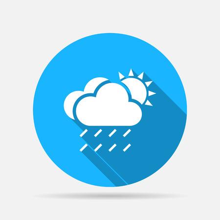 rain cloud: rain cloud sun icon