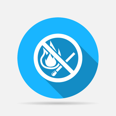 no fire sign icon Illustration