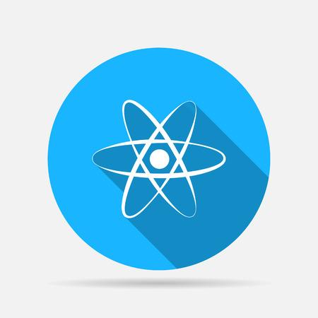 physical chemistry: atom icon Illustration