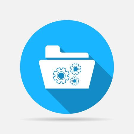 settings folder icon Illustration