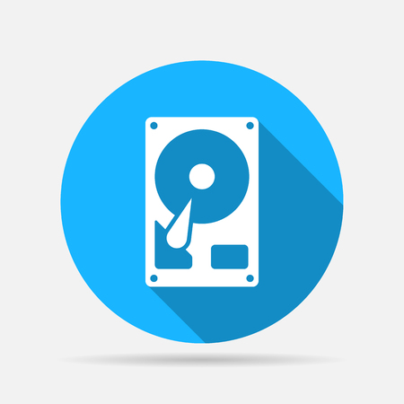 data storage device: hard drive disk icon