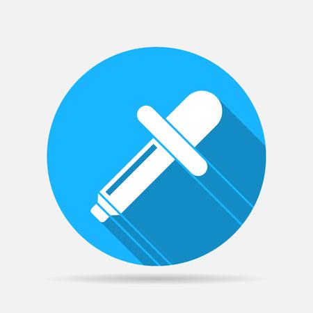 eye pipette: eyedropper icon Illustration