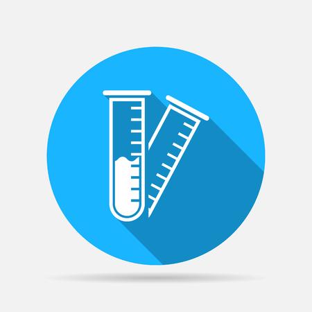 forensics: test-tube icon Illustration