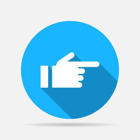 icono de dedo mano apuntando