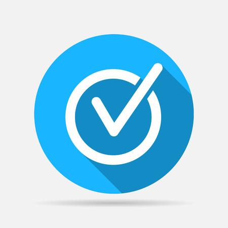 check mark icon: rounded check mark icon Illustration
