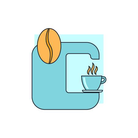 coffee machine icon Illustration