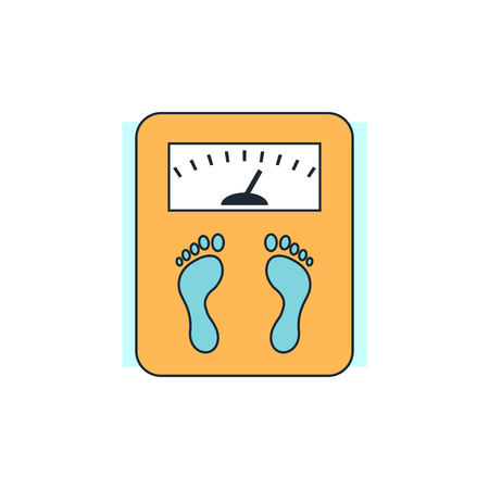 exercise weight: scales icon Illustration