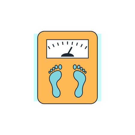 scale icon: scales icon Illustration