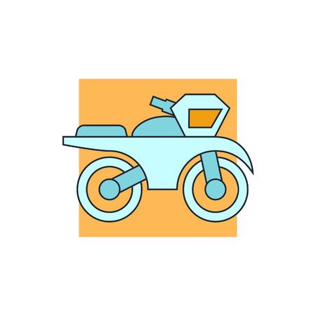 pandilleros: icono de la muestra de la motocicleta Vectores