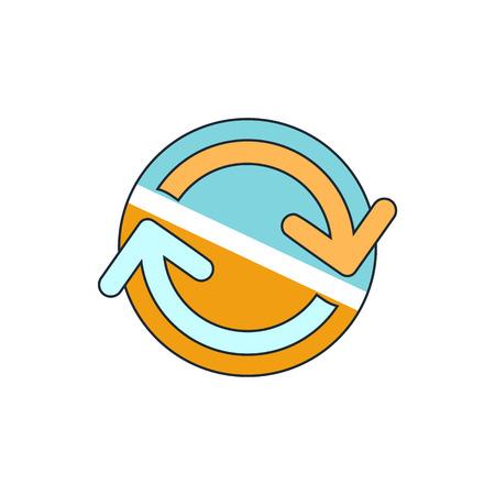 bucle: icono de bucle flechas