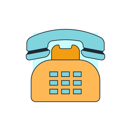 vintage telephone: retro telephone icon