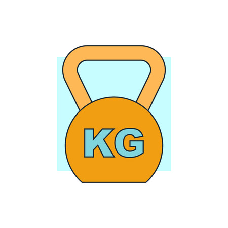 special steel: Weight icon Illustration