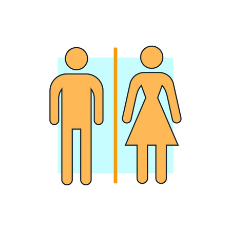 urban planning: man and woman icons, toilet sign Illustration