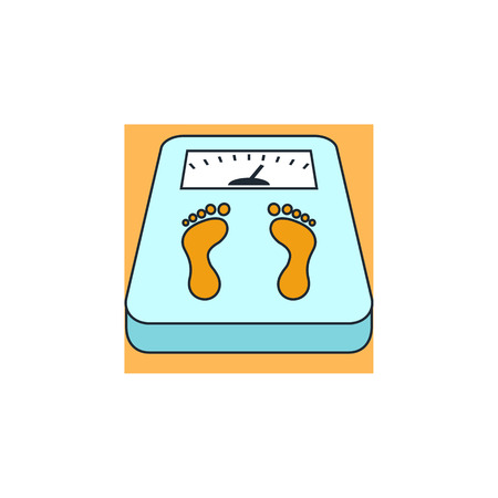 weight scales: scales icon Illustration