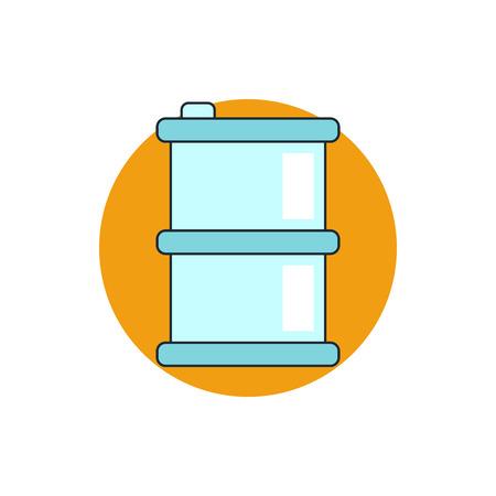 borough: oil barrel icon Illustration