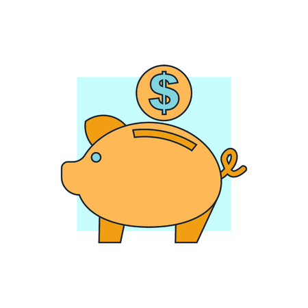 piggy bank money: piggy bank icon