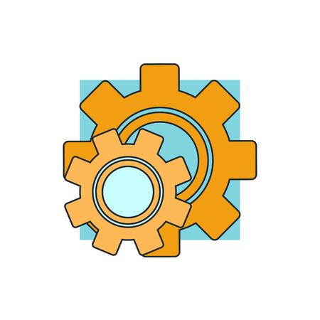 settings icon: Cog settings icon Illustration