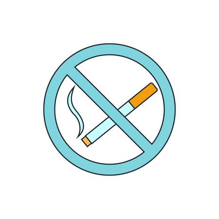 pernicious: No smoking sign icon