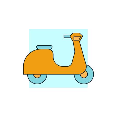 scooter: icono de la muestra de la vespa