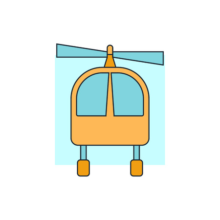 helicopter: helicopter sign icon Illustration