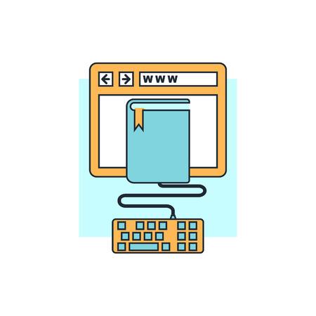 onderwijs: online onderwijs pictogram