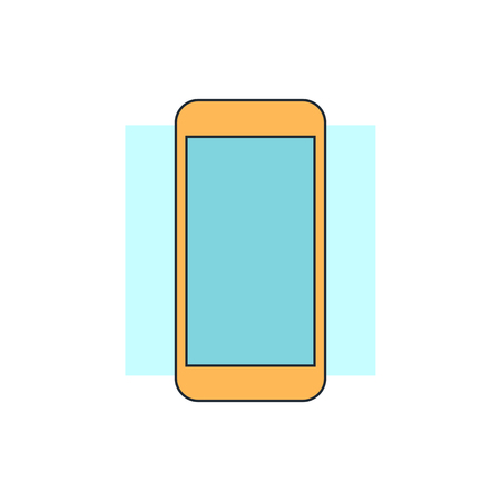 phone service: smart phone icon Illustration