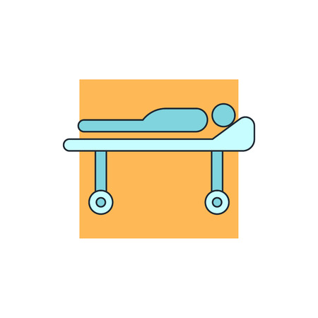 reanimation: medical barrow icon